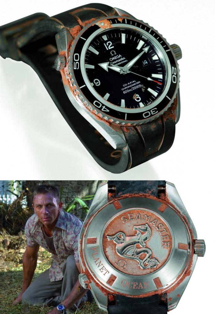"""Die OMEGA Planet Ocean, die 007 Daniel Craig im Film """"Casino Royale"""" getragen hat, wurde 2007 für ca. 228.000 Euro versteigert"""