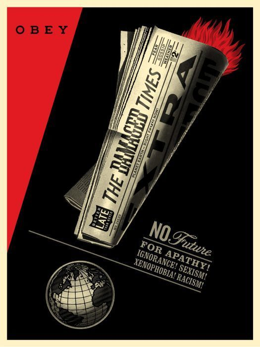 Shepard Fairey (OBEY),«Damaged Times »