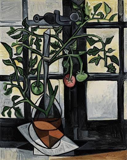 Pablo Picasso, Plant de tomates, huile sur toile © Sotheby's