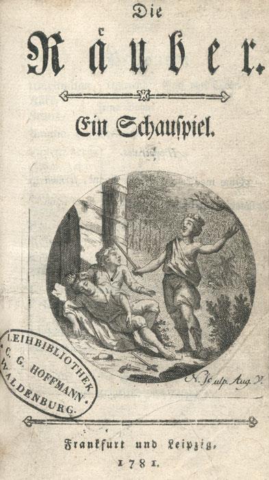 """Anonyme Erstausgabe von Schillers """"Die Räuber"""" aus dem Jahr 1781"""