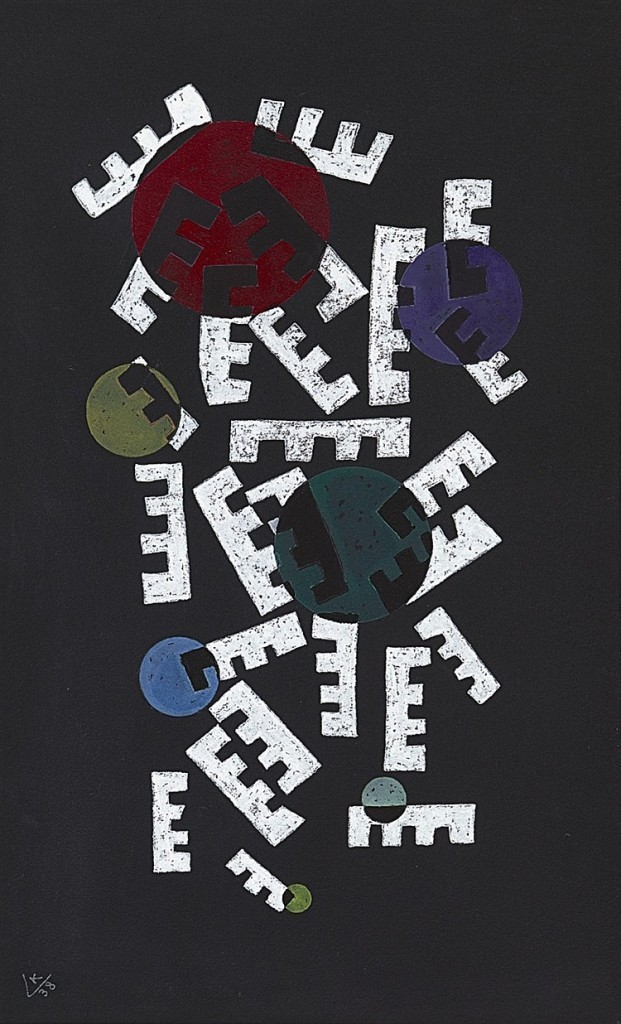 Wassily Kandinsky, «La forme tournée», 1938, image ©Lempertz