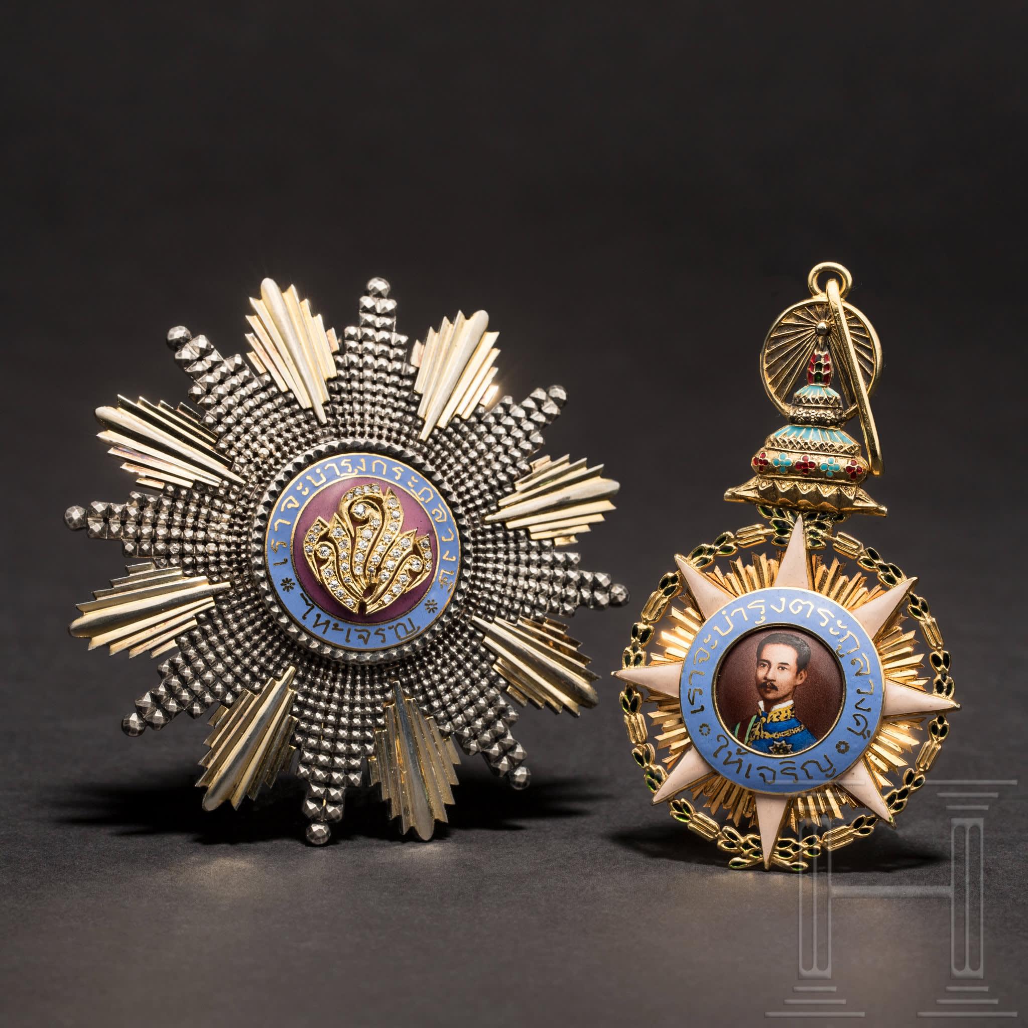 Set de médailles de l'Ordre de Chula Chom Klao, 1ère classe, image ©Hermann Historica