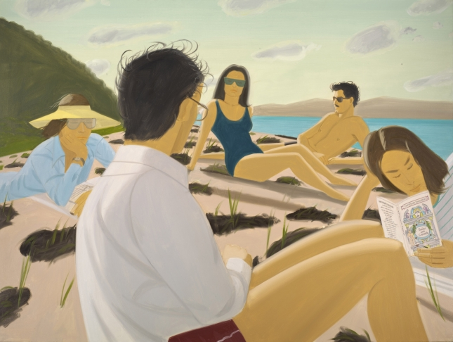Alex Katz, Round Hill,  1977, Oil on Linen Los Angeles County Museum of Art, Partial and Promised Gift of Barry and Julie Smooke Art © Alex Katz/Licensed by VAGA, New York, NY Digital Image  © 2012 Museum Associates / LACMA