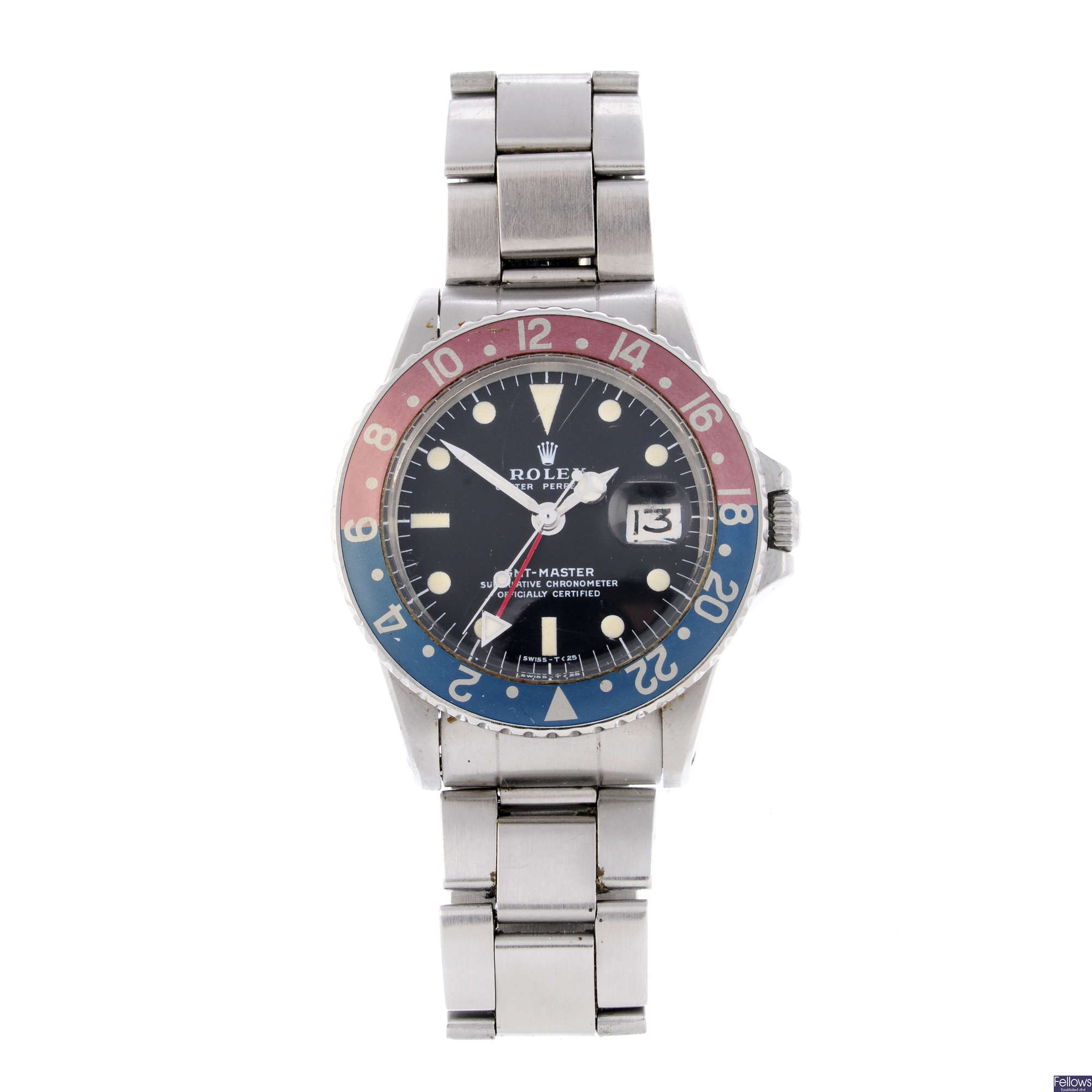 Stainless steel Rolex Oyster Perpetual GMT-Master bracelet watch
