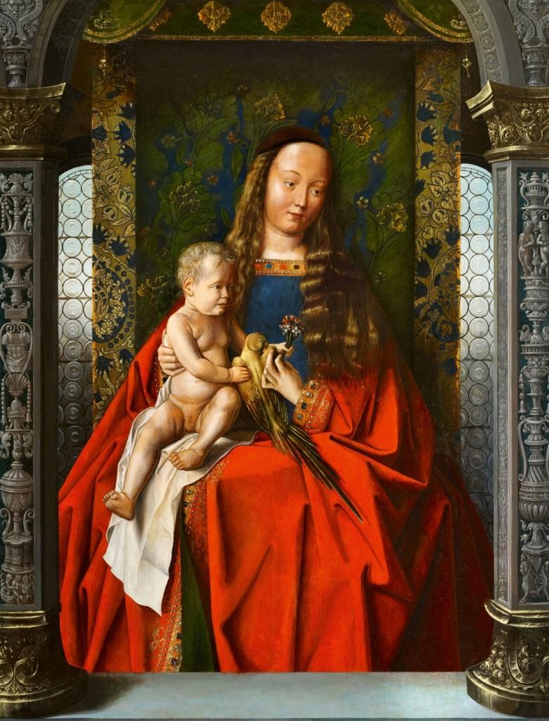 Nachfolger von JAN VAN EYCK (1399 Maaseyck - 1441 Brügge) - Madonna mit Kind, Öl/Holz