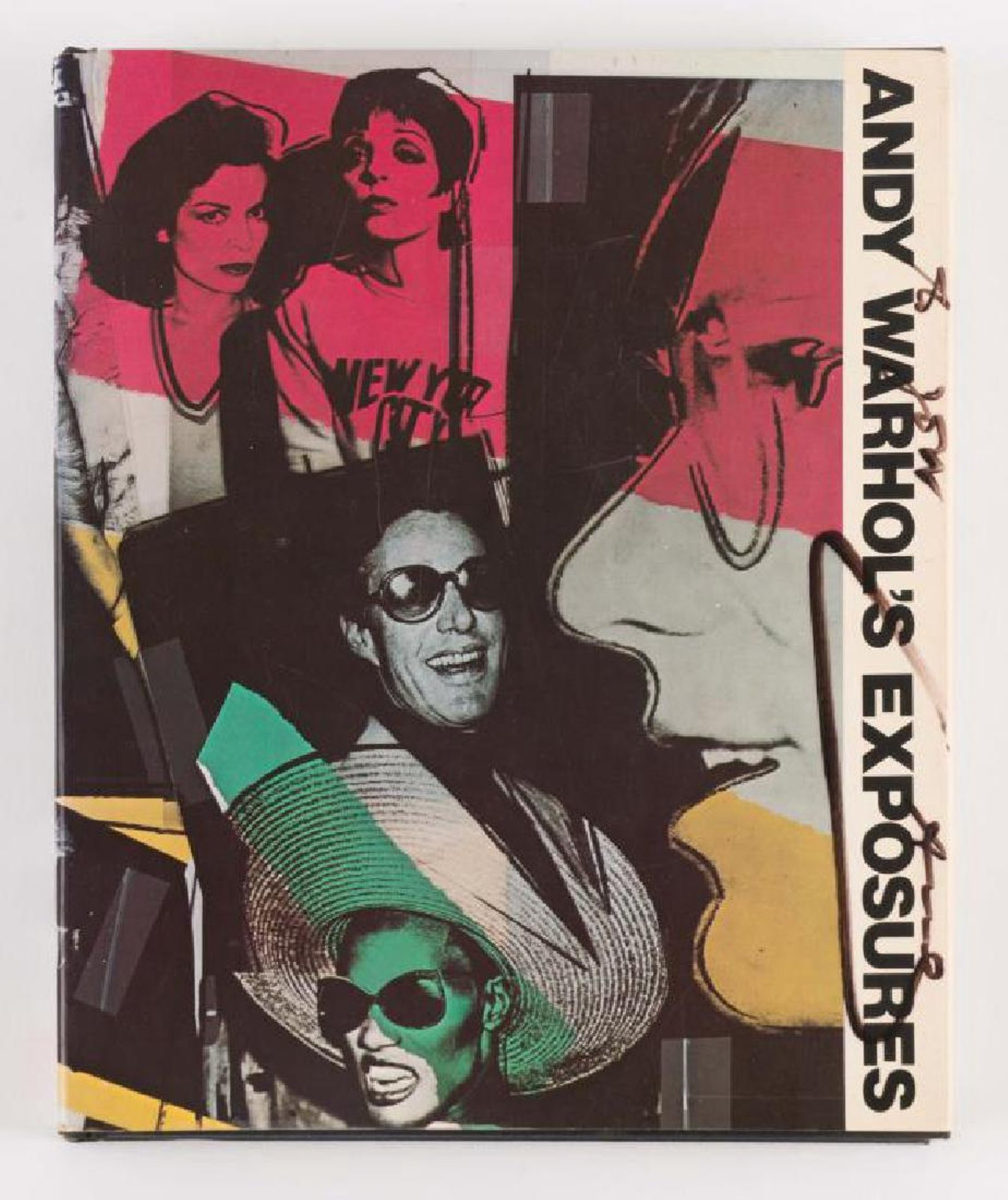 """Copy of Andy Warhol's book Exposures, twice-signed by the artist, once on the title page rather cryptically ( Signed ''To Jon, Without Love – Love, Andy Pandy"""")"""