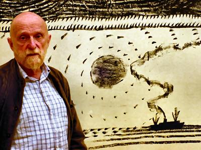 Pierre Alechinsky (né en 1927) Image via culture.ulg.ac.be