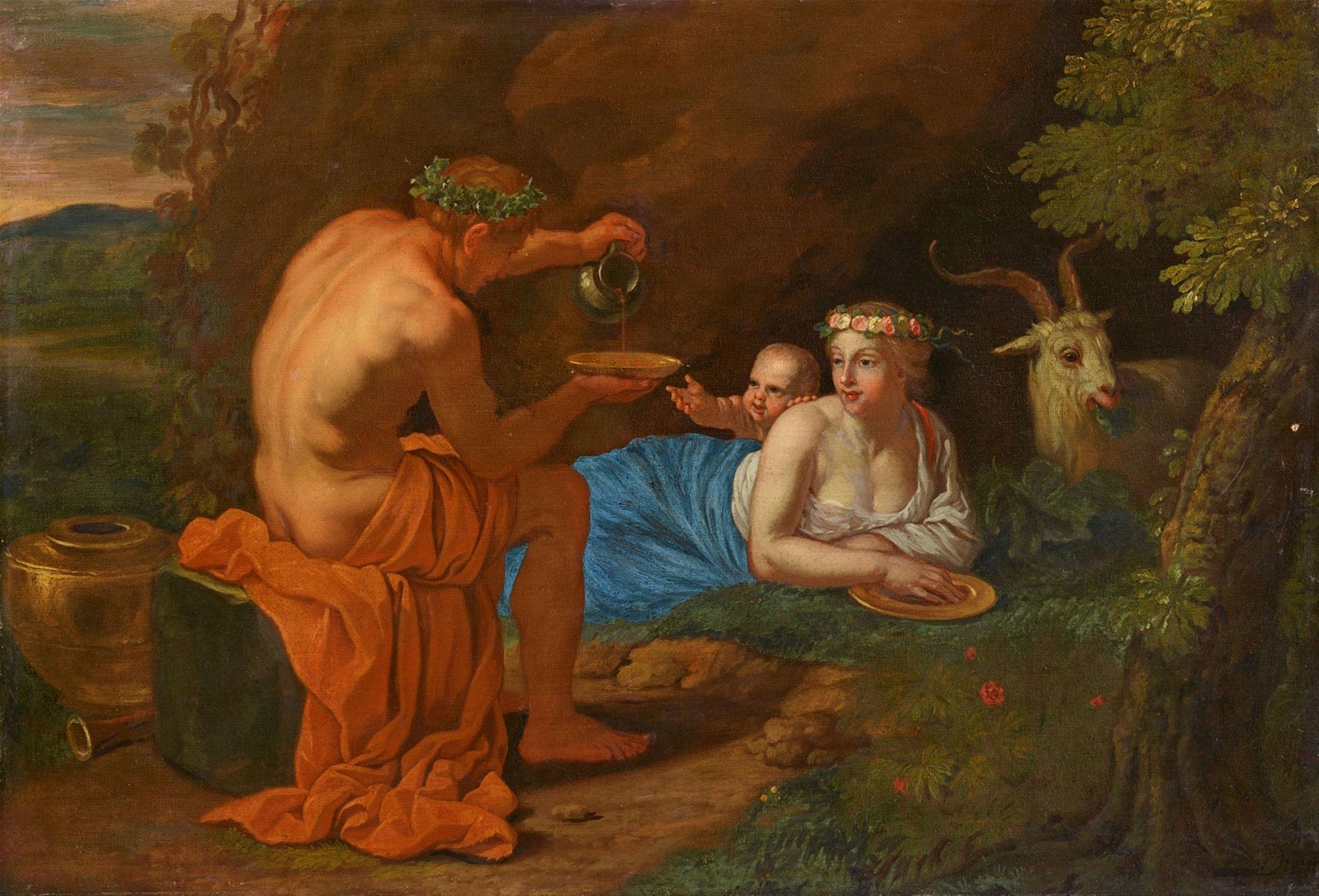 Jean Daret, L'Enfance de Bacchus, huile sur toile, image © Lempertz