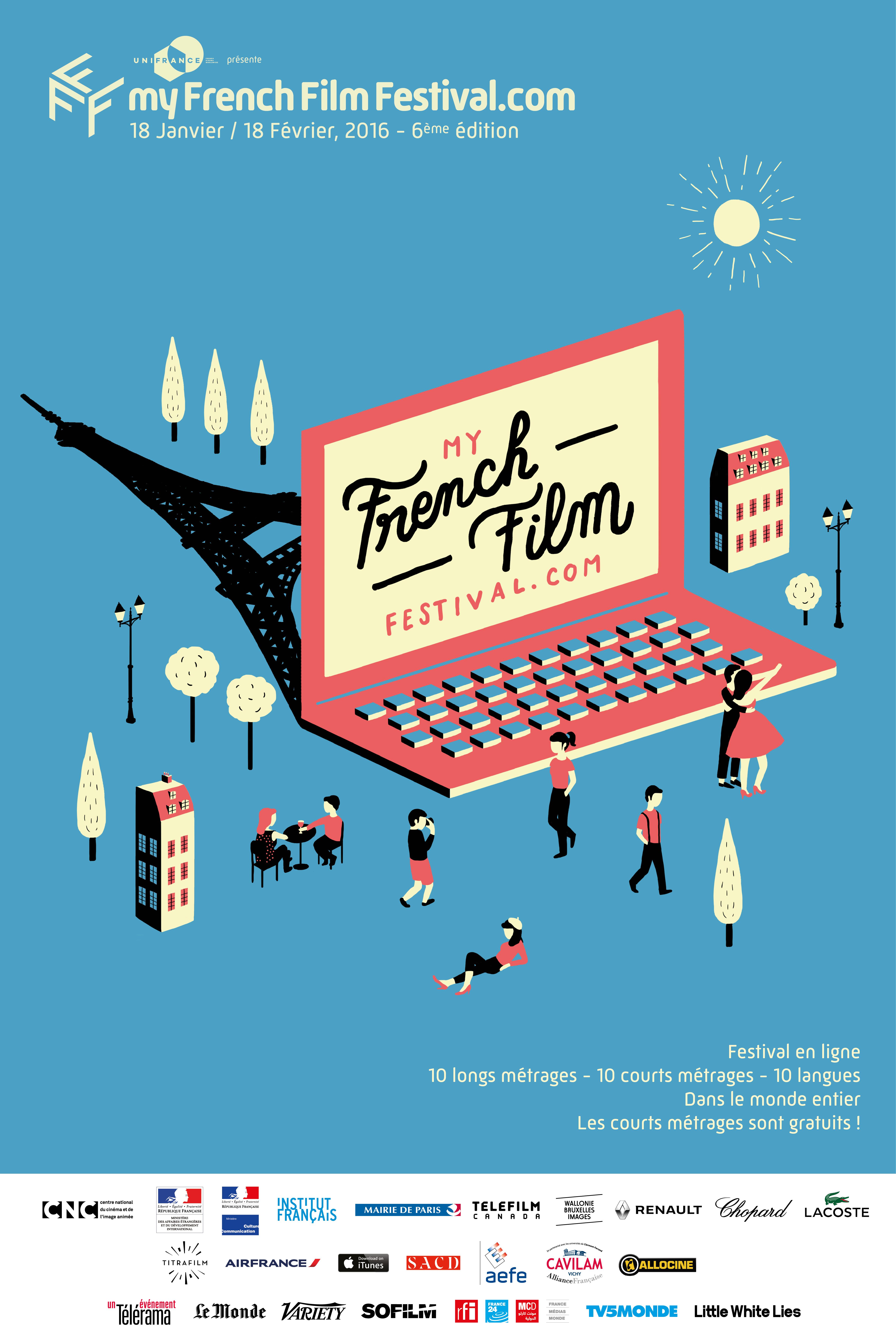 L'affiche de la 6e édition de MyFrenchFilmFestival.com