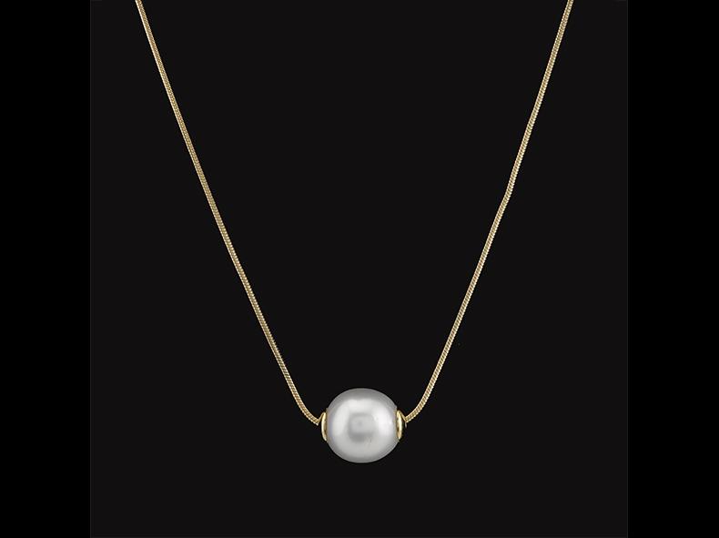 Collar en oro con perla australiana