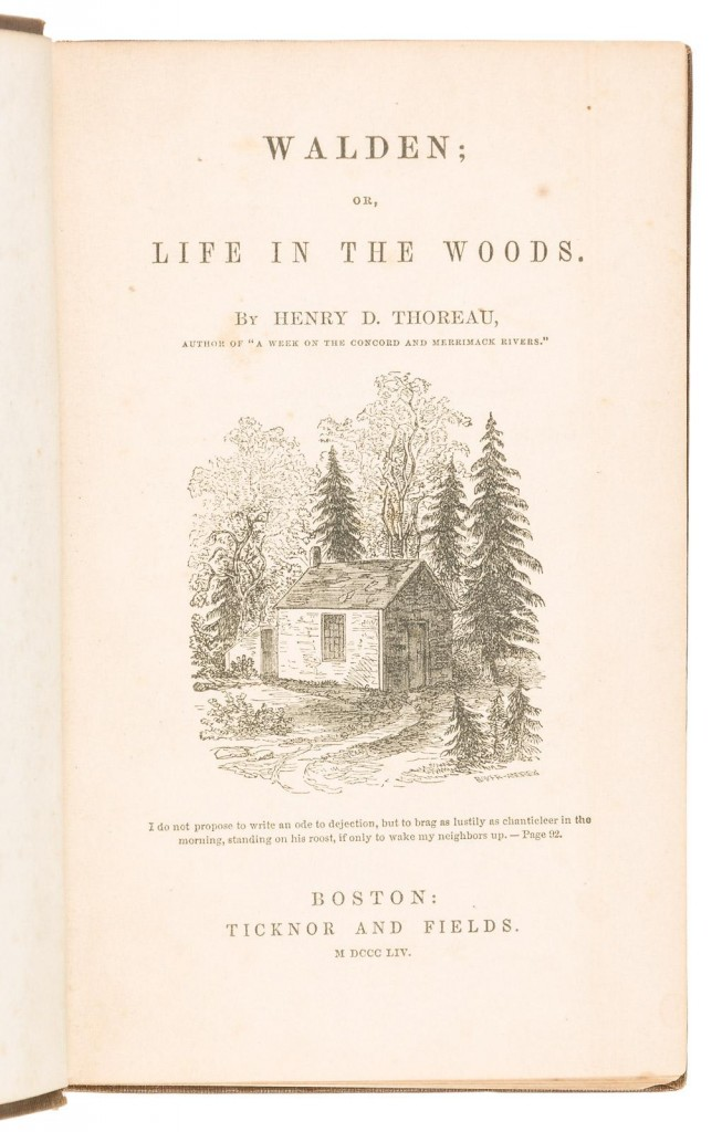 Thoreau first edition book