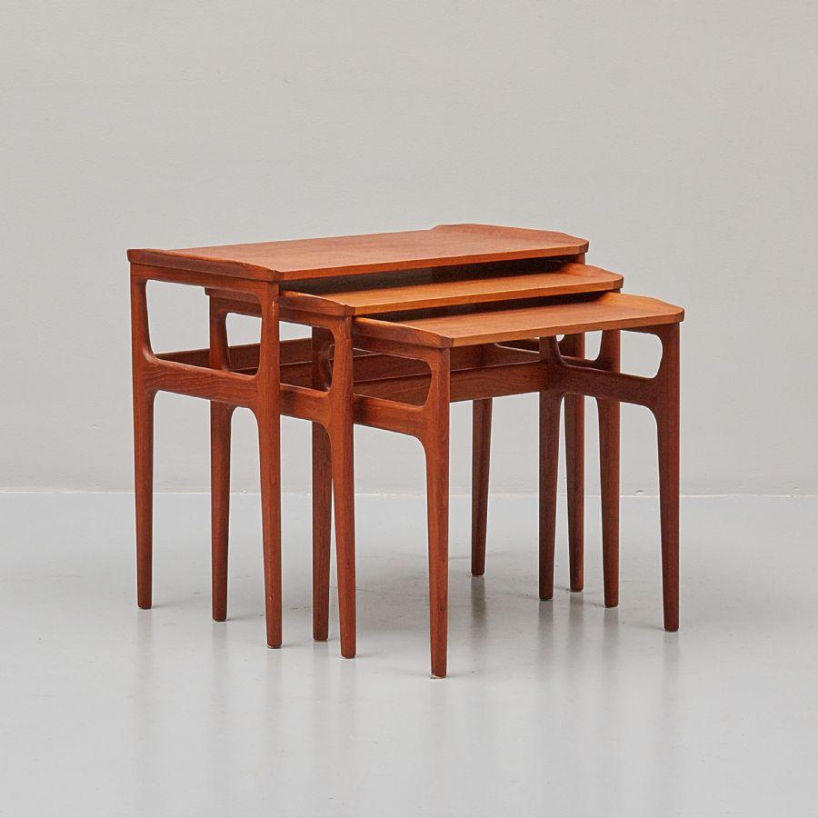 Satsbord i teak, Danmark, tre delar