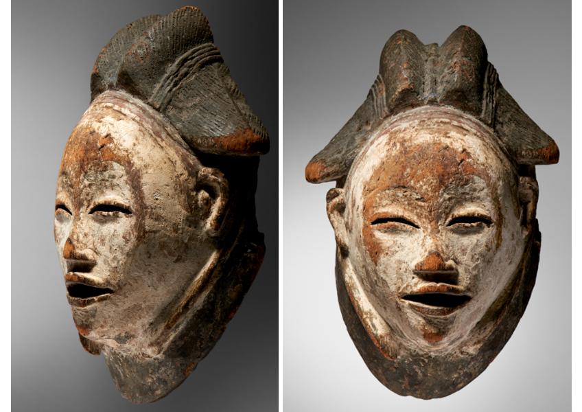 Punu Mask Gabon Bois - 29 cm Image: Courtesy of Native Auctions