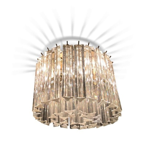 Lustre en verre de Murano, vers 1960-80 AuctionMyStuff Estimation basse: 360 €