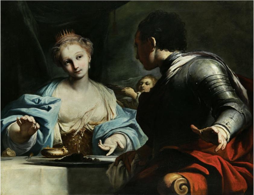 ANTONIO GIONIMA (1697 Venedig - 1732 Bologna) - Gastmahl von Antonius und Kleopatra, Öl/Lwd., 86 x 111 cm Schätzpreis: 80.000-140.000 EUR