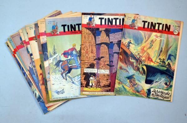 Collection des 418 premiers numéros du Journal de Tintin France Estimation: 1 200 / 1 500 € En vente chez Vermot & Associés