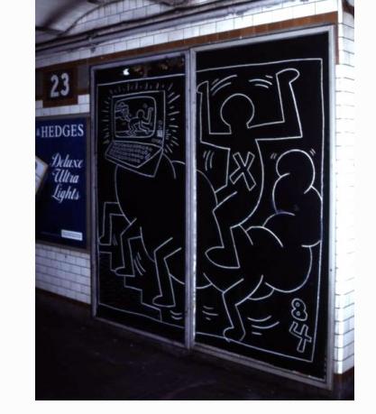 Untitled, 1984. Photographié Ivan Dalla Tana. Via Keith Haring Foundation
