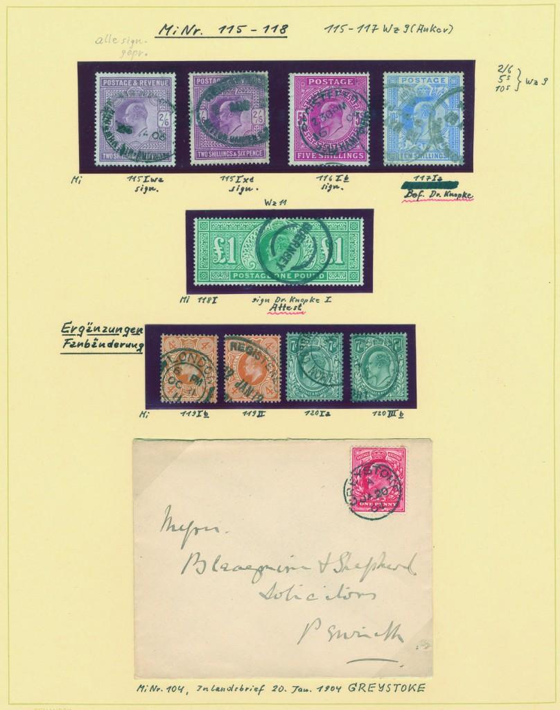 GROSSBRITANNIEN - Spezialsammlung König Edward VII. in fünf Schaubek-Alben Ausruf: 12.000 EUR