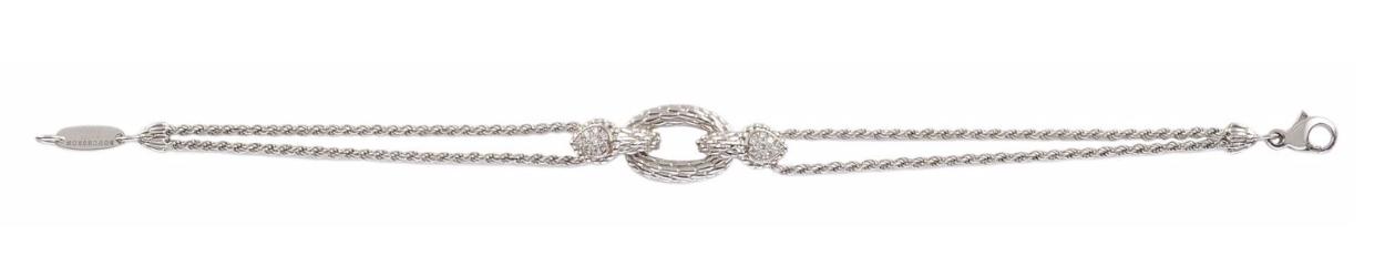 Bracelet en or gris collection «serpent» serti de diamants de taille brillant, par Boucheron Osenat