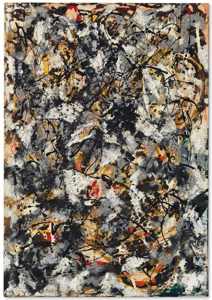 Jackson Pollock, Composition with Red Strokes (1950), immagine © Christie's