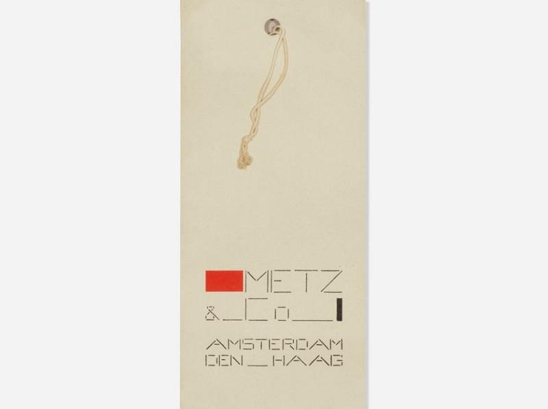 Etiqueta diseñada por BART VAN DER LECK para Metz & Co. en 1935