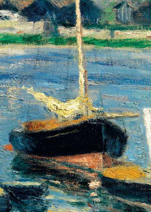 Détail de Gustave Caillebotte, Voiliers sur la Seine à Argenteuil, 1886