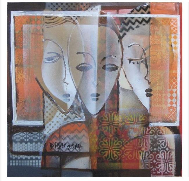 Ibrahim-dada Disu, peinture d'inspiration Dogón, Mali