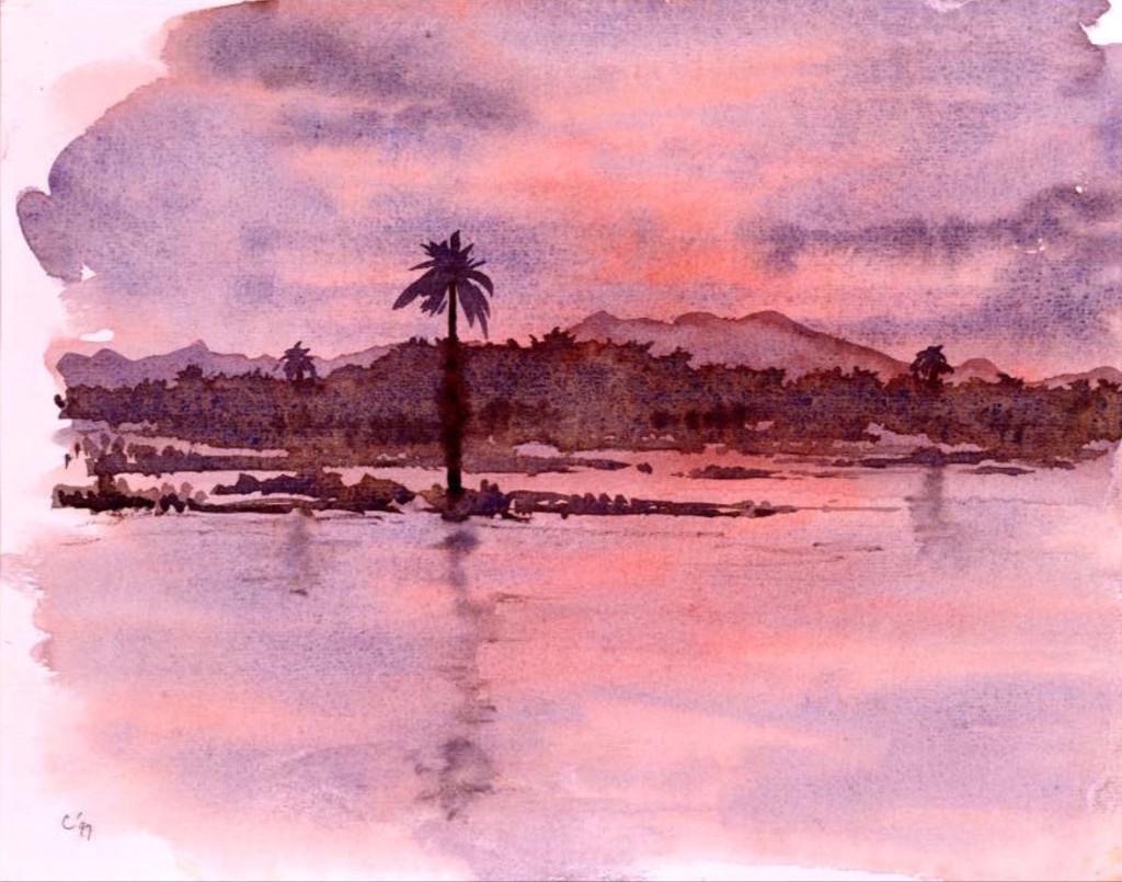 Prince Charles, Rufiji River from Mbuyuni Camp, Selous Game Reserve, Tanzanie (1997). Photo: princeofwales.gov.uk