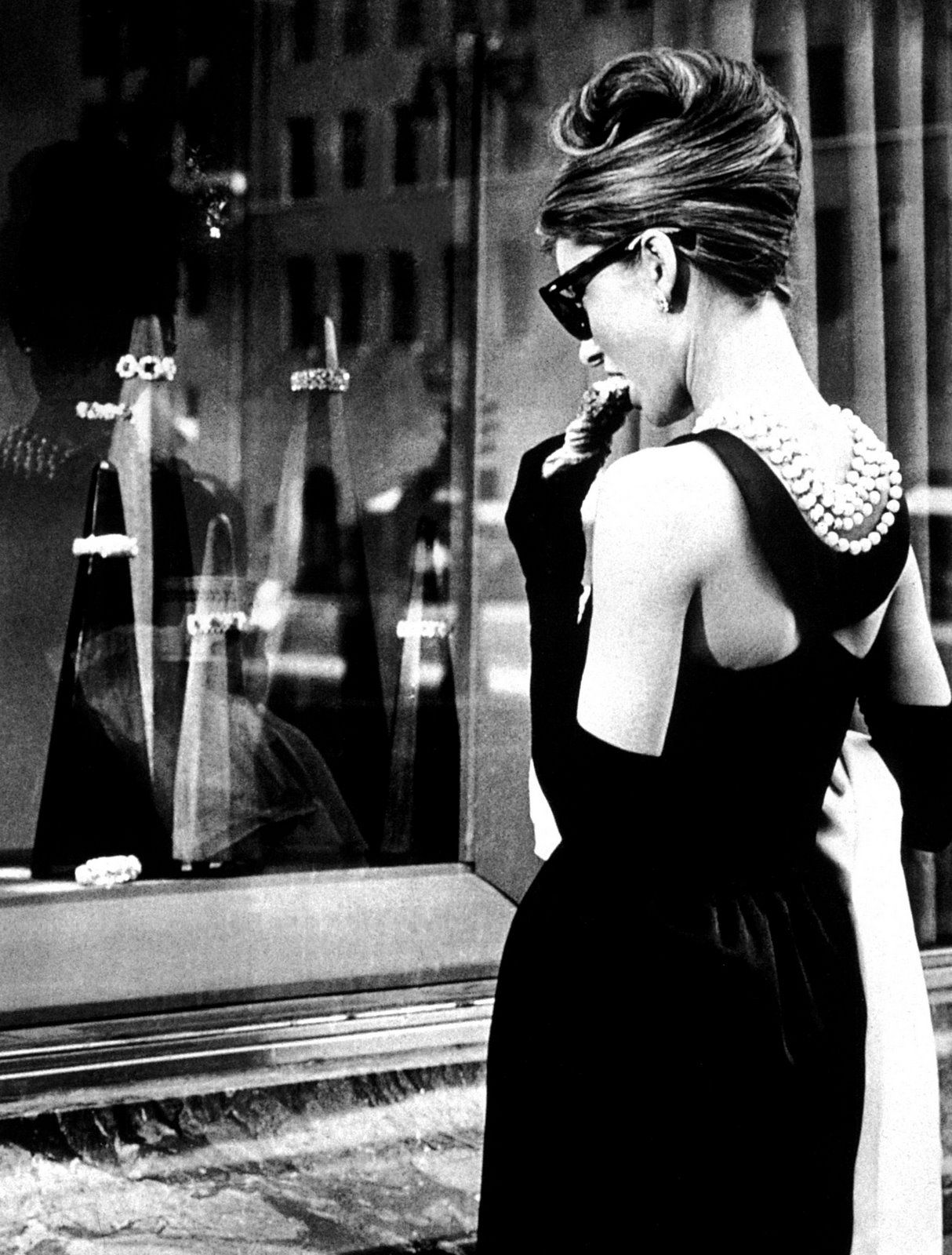 Holly Golightly's famous little black dress designed by Givenchy in Breakfast at Tiffany's, 1961