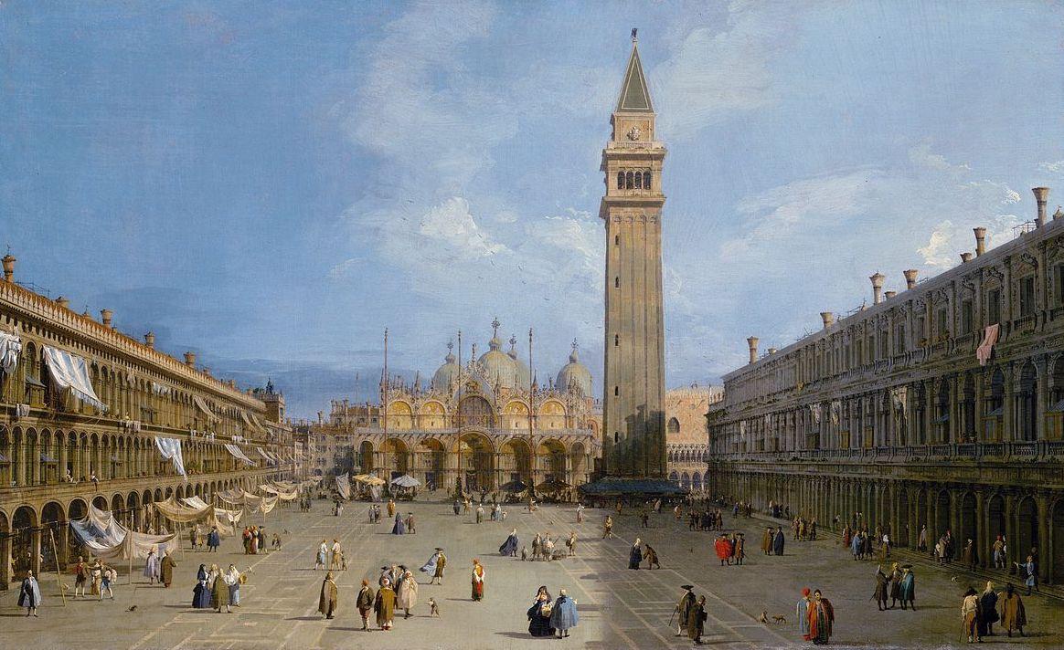 Canaletto, La basilique San Marco et le Campo Basso, c. 1722