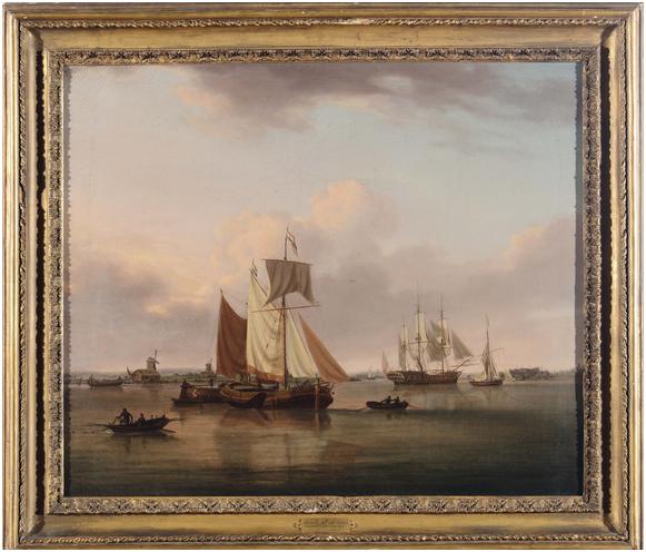 WILLIAM ANDERSON (1757-1837) - Küstenansicht mit Booten, Öl/Lwd., 63 x 75 cm Schätzpreis: 4.000-6.000 EUR