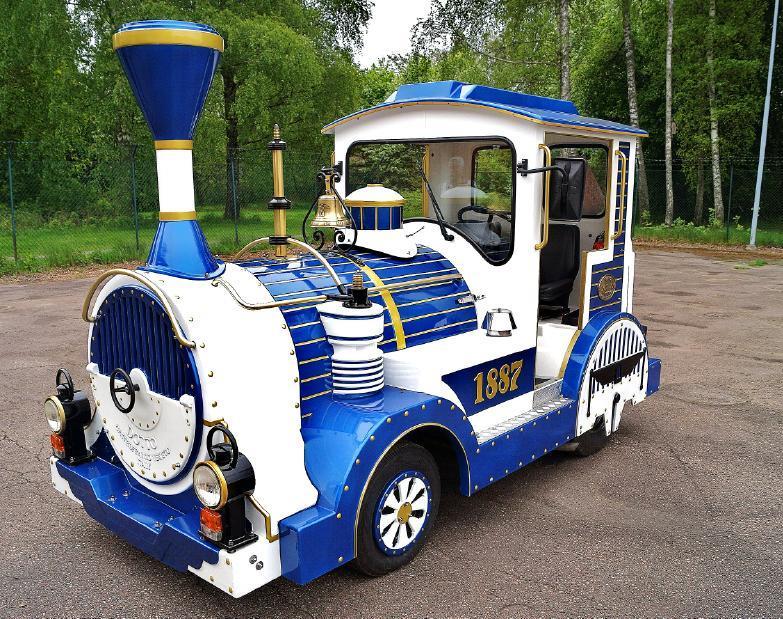Dotto tåg, Dotto train F87, Sihgtseeing tåg, OBS detta objekt har lägre inropsavgift 12,5% inkl.moms. Inropsavgiften kan endast ändras efter varan är såld m. Ford Diesel, 4 vxl. Tåget är i nyskick, Nypris ca 1 miljon, Tåget har använts i Parken Zoo Eskilstuna och sedan genomgått en omfattande renovering. Utrop: 300,000-400,000 sek.