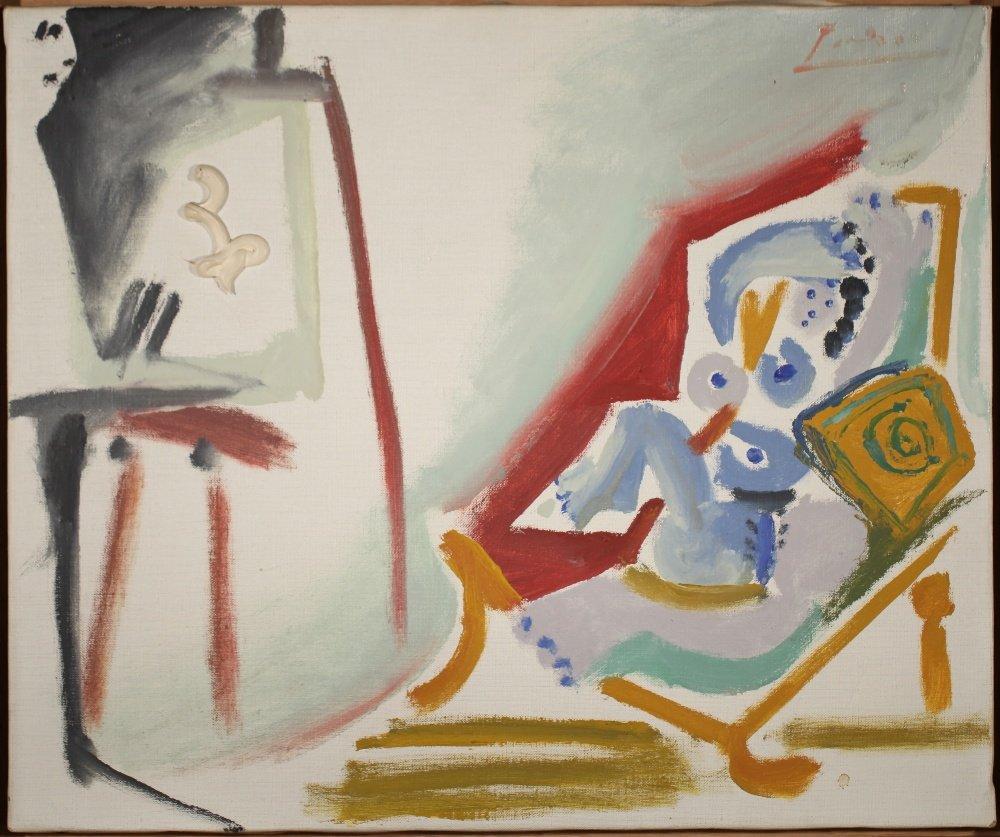"""Pablo Picasso """"La Peintre et son modele"""". Utropspris: 18 600 000 SEK. Fine Art Auctions Miami"""