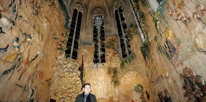 Détail de la paroi de la Cathédrale de Palma de Majorque