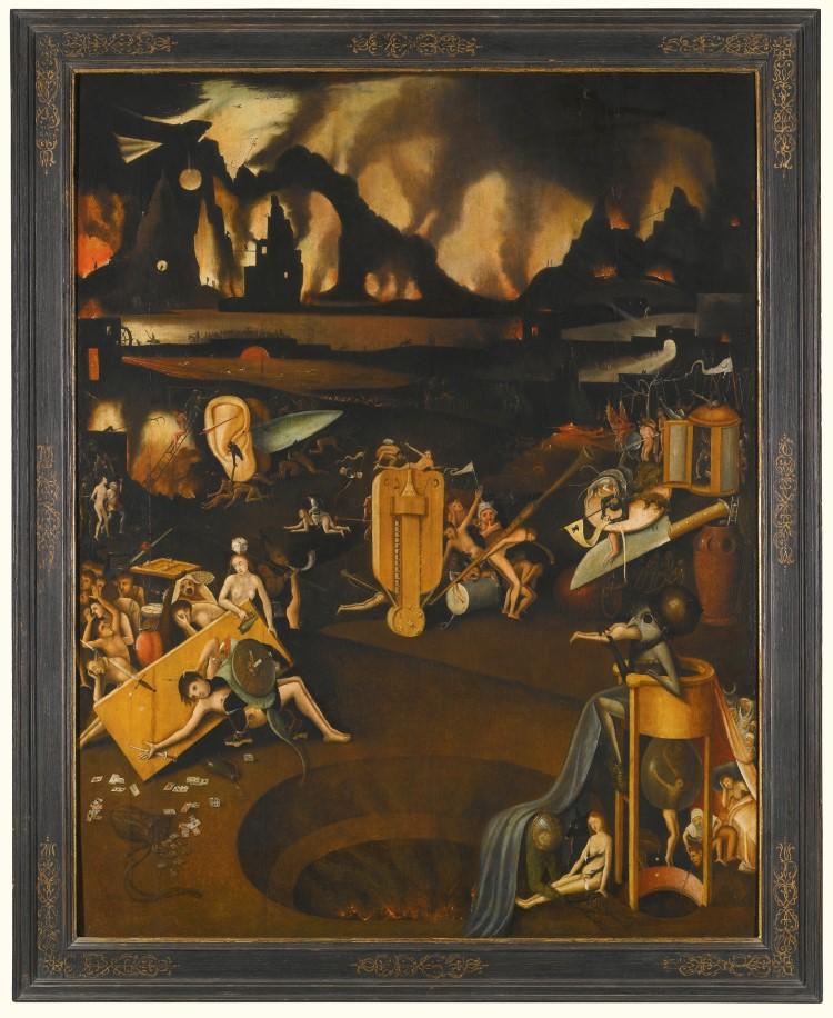 """Hieronymus Bosch - """"Furnace From Hell"""" - eine Abwandlung des berühmten Werkes """"Die musikalische Hölle"""" wurde für ca. 156 600 EUR versteigert."""