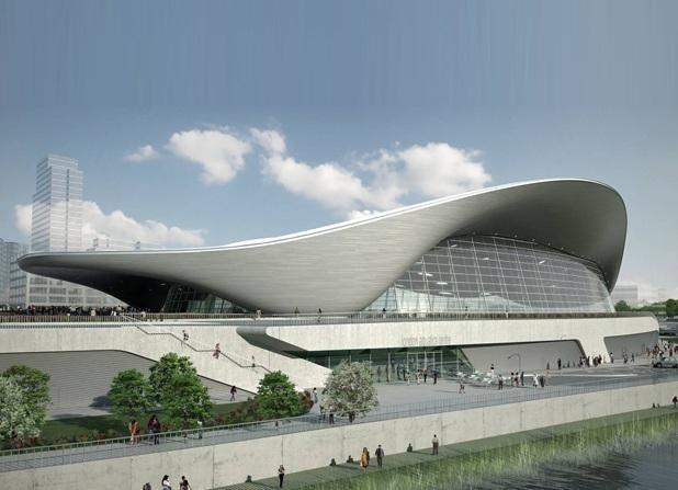 La piscine olympiques des Jeux de Londres inaugurée en juillet 2012 © Zaha Hadid Architects