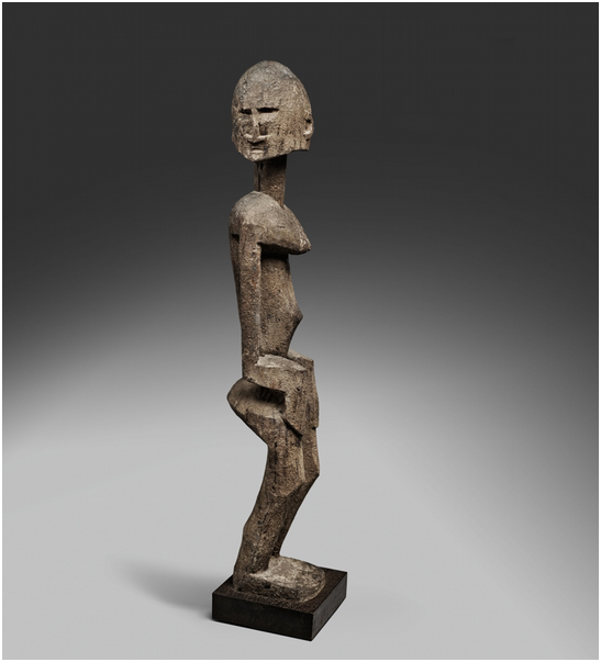 Dogonfigur. H: 71 cm, Mali. Utropspris: 280 000 - 460 000 kronor.