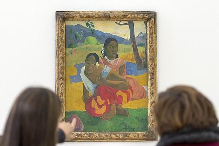 "Paul Gauguin, ""Nafea Faa Ipoipo (When Will You Marry?)"" 1892. Foto: Georgios Kefalas/EPA"