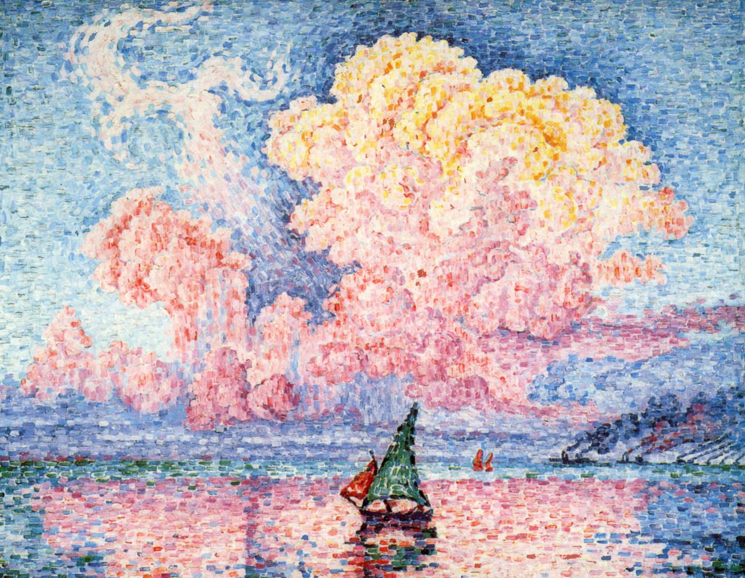 Paul Signac, Antibes, le nuage rose, 1916, image via Artslack