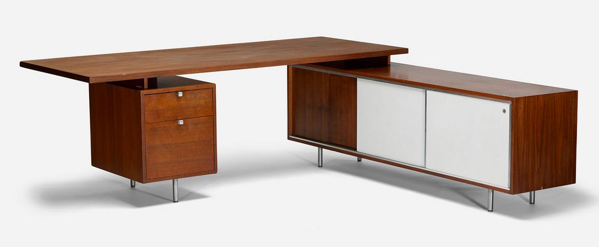 Table de bureau par George Nelson Wright Estimation basse: 2 700 €
