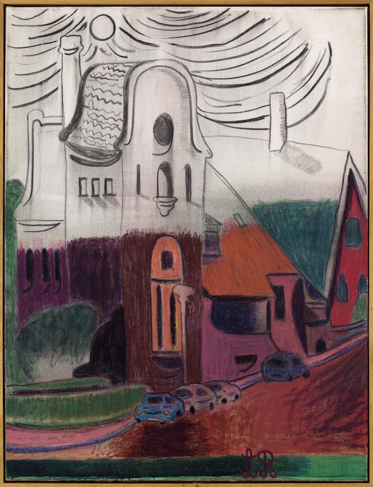 """Verket """"Hus"""" av konstnären Tal R."""