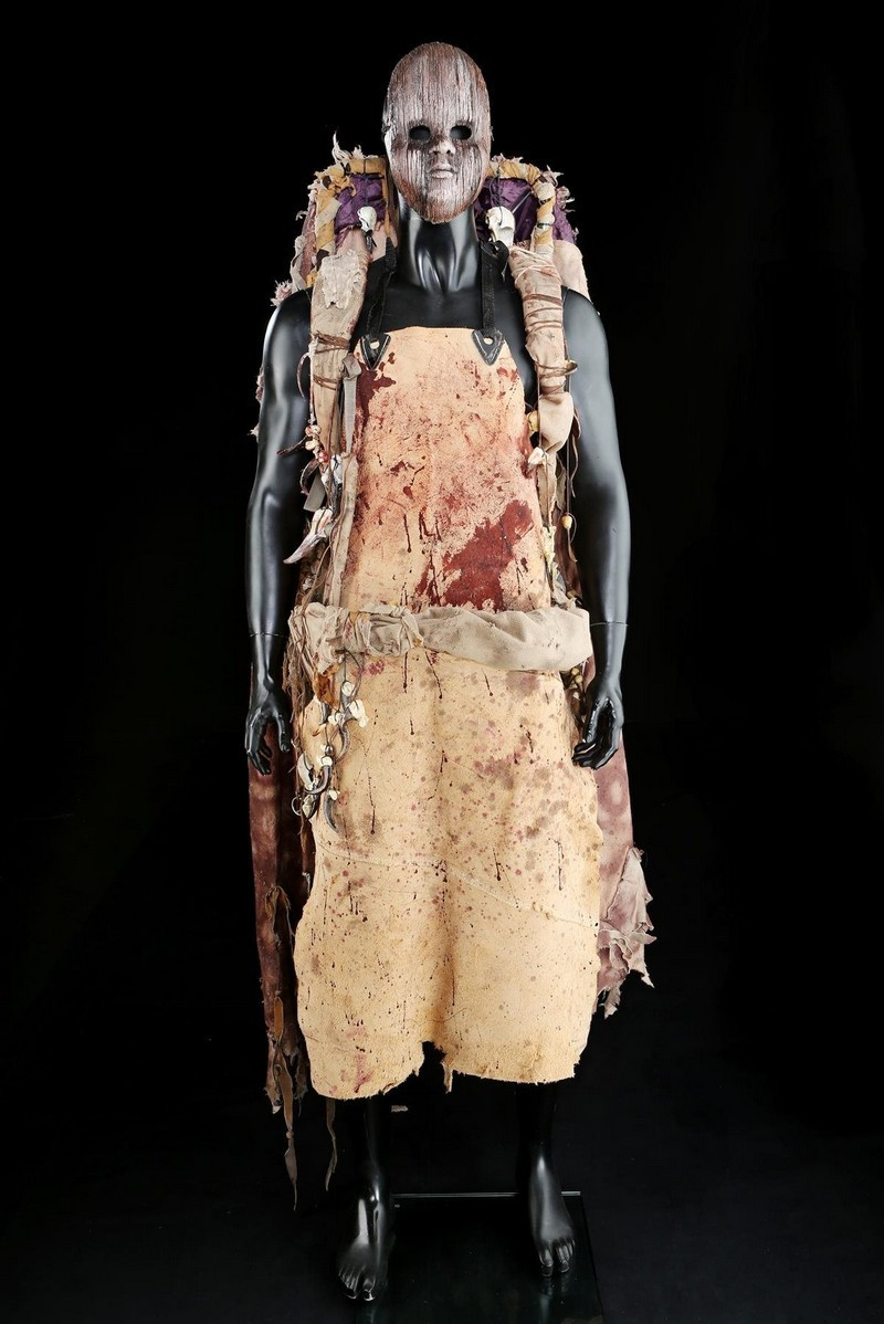 Joel Decker Butcher's mask and suit. Photo: Prop Store