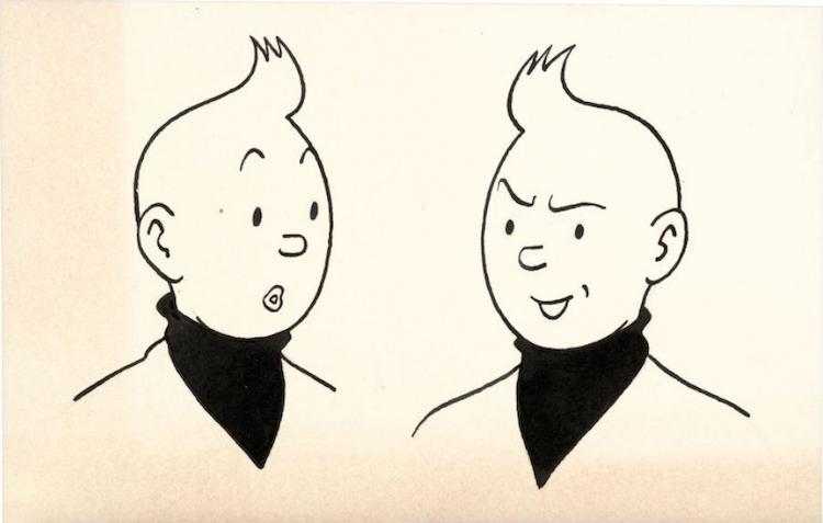 Studios Hergé Les Expressions de Tintin Utrop: 4 700 SEK Artcurial