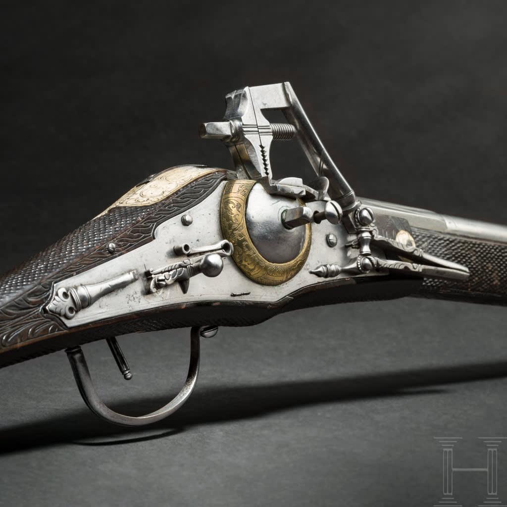 Hjullåsgevär tillverkat av Zacharias Herold, 1600-tal.