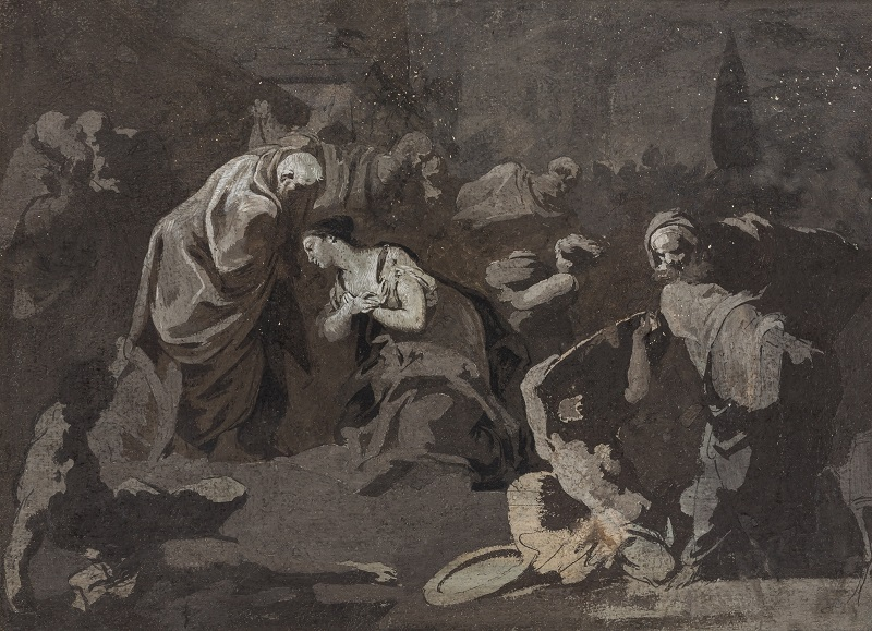 "GIOVANNI DOMENICO TIEPOLO (Venecia 1727-1804). ""Escena bíblica"""