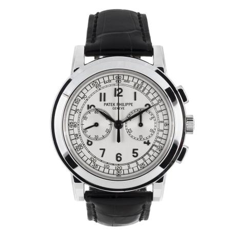 Patek Philippe, Rare montre chronographe tachymètre en or gris 750