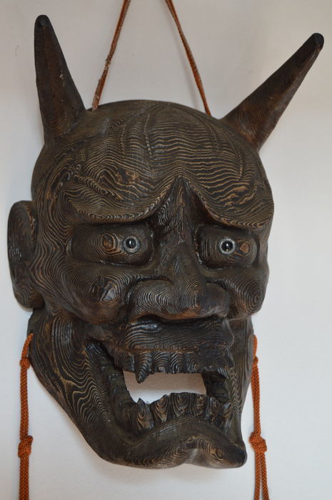 Máscara de Noh. Hannya, Japón (siglo XVIII). Precio estimado: 2.500-3.500 €