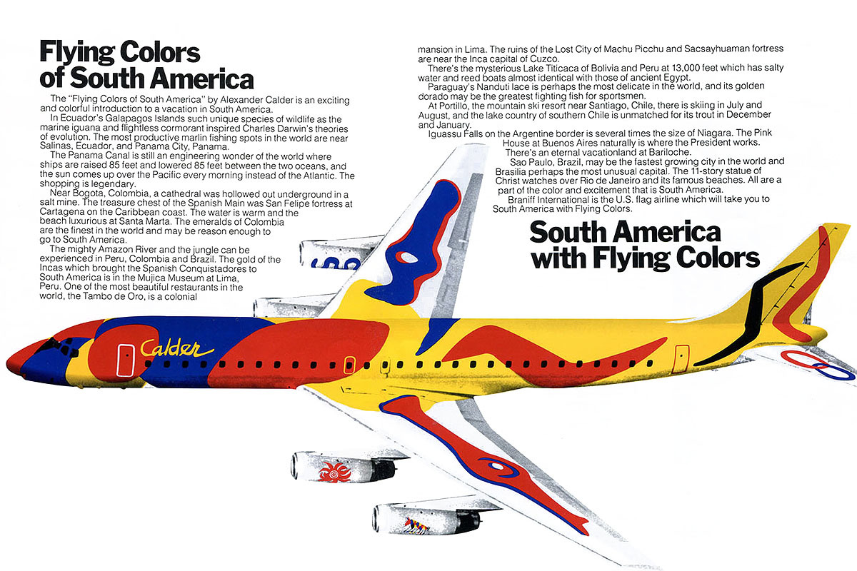 "Brochure de The ""Flying Colors of South America"", 1973 Image: Chris Sloan"
