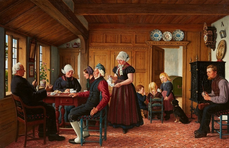 Karl Ludwig Jessen, A Frisian Family Drinking Coffee
