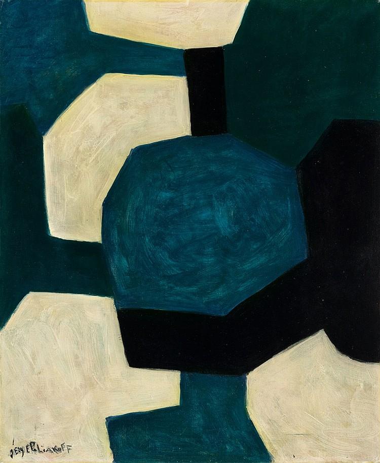 SERGE POLIAKOFF (1899/1900 Moskau - 1969 Paris) - Composition abstraite, Öl/Lwd., signiert, 1966